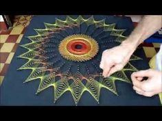 string art cuadro con hilos tensados red no fractal - YouTube