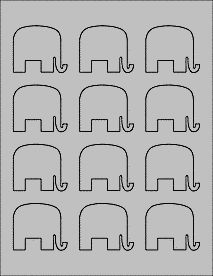 Gray Elephant Labels - Printable Elephant Stickers