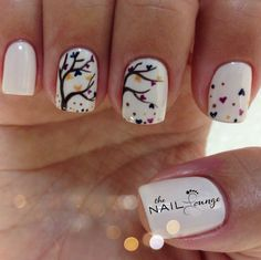 Fall gel nail art. @the_nail _lounge_miramar