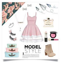 """""""Girly chic"""" by shabbychic101tv ❤ liked on Polyvore featuring Timberland, Marc by Marc Jacobs, Aéropostale, Kate Spade, Salvatore Ferragamo, Bobbi Brown Cosmetics and Boohoo"""