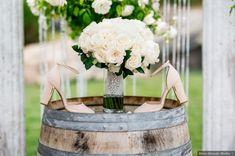 Wedding decor - shoes, nude, neutral, closed toe, heels {Glass Woods Media}