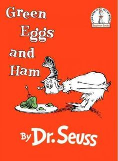 March 11, 2014. Sam-I-Am tries to persuade his friend to try green eggs and ham.