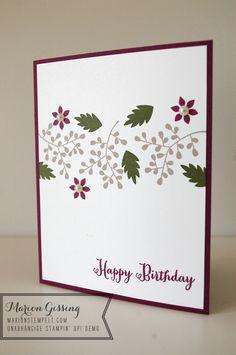 Stampin' Up, Gardenparty, Geburtstagskarte
