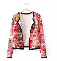 Autumn Flower Jacket Coat on Luulla