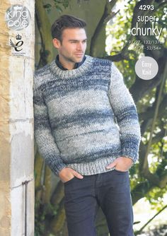 King Cole Chunky Knitting Pattern - Mens Waistcoat & Sweater (4293) - Mill Outlets