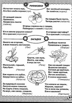 Russian Lessons, Russian Language, Kids Education, Crafts For Kids, Bullet Journal, Teacher, Reading, Vegetables, Kid