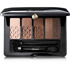 Guerlain Ecrin 5-Color Eyeshadow Palette, Fall Color Collection found on Polyvore featuring beauty products, makeup, eye makeup, eyeshadow, beauty, palette, tonka imp riale, palette eyeshadow, guerlain eyeshadow and guerlain