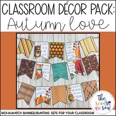 Do you have a space on your classroom wall or door where you need that perfect piece of seasonal or holiday decor? Look no further! This Autumn Banner Pack has got you covered. Its fun and fresh design will bring the perfect Autumn touch to your classroom!
