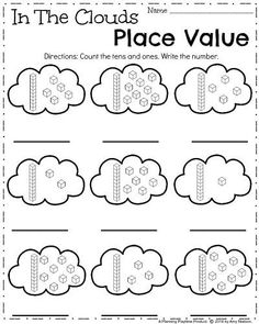 April Kindergarten Worksheets - Spring Math Adorable Spring Kindergarten Worksheets for April. Practice Math, Reading, and Writing with April Showers, Hot Air Balloons, and Leaping Frogs. Kindergarten Math Worksheets, Homeschool Kindergarten, Teaching Math, Math Activities, Preschool, Teaching Spanish, Homeschooling, Teen Numbers, 1st Grade Math
