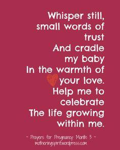 Prayers for Pregnancy   Mothering Spirit - Month 3