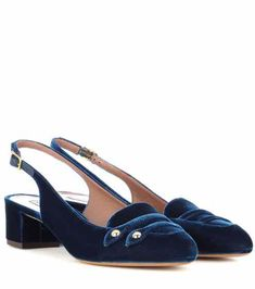 Exclusive to mytheresa.com - Ines velvet sling-back pumps | Tabitha Simmons