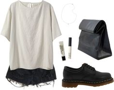 """""""milky"""" by cassieella ❤ liked on Polyvore"""