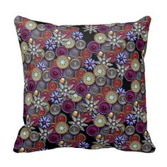 40% OFF TODAY! Pillows from Zazzle! Use code: PILLOWFORDEC at checkout! Brooches Throw Pillow #pillows #forthehome #homedecor #zazzle #zazzlesales #christmasgifts #giftsforhome