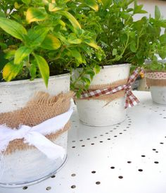 gillyflower - how to make shabby chic style plant pots using Annie Sloan paint
