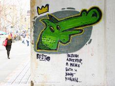Zeleni aligator, a može biti i konjina... / RAGE / Bulevar #Beograd #Belgrade #Graffiti #Grafiti #StreetArt