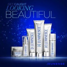 Luminesce super-charges the production of young, fresh skin cells. Infused with a potent growth factor complex derived from natural adult stem cells, the Luminesce family of products rejuvenates skin cells at a molecular level.  Products include; cellular rejuvenation serum, daily moisturizer complex, advanced night repair, youth restoring cleanser, essential body renewal and ultimate lifting masque.