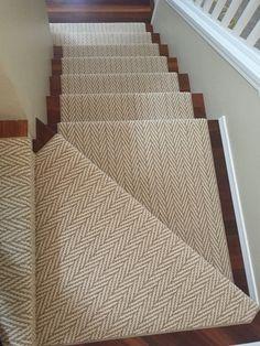 Basement Remodel Diy, Basement Remodeling, Chevron Carpet, Staircase Carpet Runner, Home Entrance Decor, Basement Carpet, Textured Carpet, Staircase Makeover, Hallway Designs