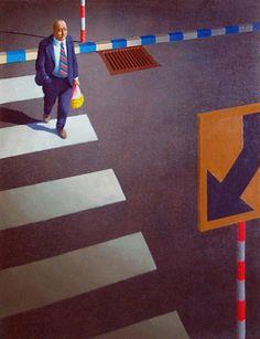 Jeffrey Smart Australian Painters, Australian Artists, Jeffrey Smart, Magic Realism, Time Painting, Smart Art, Color Pencil Art, City Art, Urban Landscape