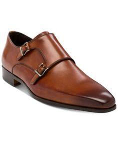 Massimo Emporio Men's Raso Double Monk Plain-Toe Oxfords