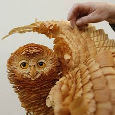 Unique Crafts, Wood Chips Animal Sculptures From Sergey Bobkov