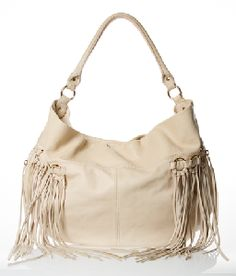 Cream Fringe Bag