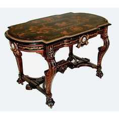 2613 Fine Antique Renaissance Revival Inlaid Rosewood table by Herter Brothers