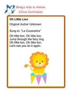 Oh Little Lion Song #BirdysKids #ToddlerCreativeMovement