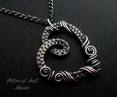 Image result for handmade wire heart pendant