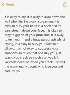 it's okay not to be okay 💕 Im Okay Quotes, Deep Thought Quotes, Hurt Quotes, Self Love Quotes, Real Quotes, Quotes Deep Feelings, Mood Quotes, Life Quotes, Breakup Quotes