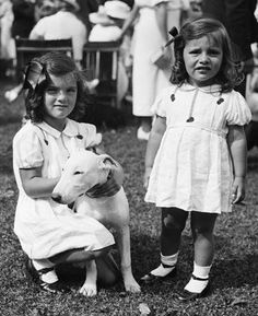 Jackie and little sis Lee Bouvier...  Little Edie claimed to be terrified by Lee saying she and Jackie wanted to take Grey Gardens after Big Edie passed away.