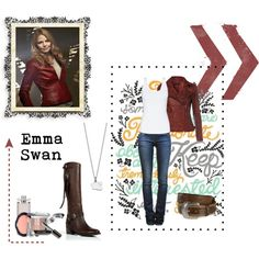 Recreate Emma Swan's fabulous outfit from Once Upon A Time. Just need that awesome red jacket and I'm ready to go!