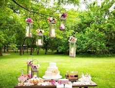 Beautiful Flowery Wedding Dessert Table ~ Party with a K...THE BLOG