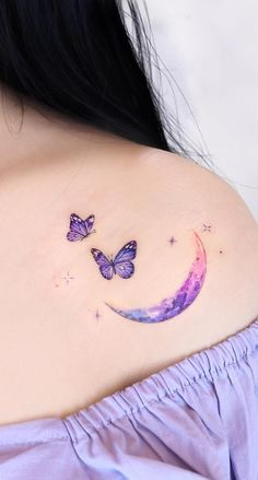 50 Butterfly Tattoos Images For Inspiration - Photos And Tattoos - 50 Schmet . - 50 Butterfly Tattoos Images for Inspiration – Photos and Tattoos – 50 Butterfly Tattoos Images - Gorgeous Tattoos, Pretty Tattoos, Cute Tattoos, Unique Tattoos, New Tattoos, Body Art Tattoos, Small Tattoos, Tatoos, Purple Butterfly Tattoo