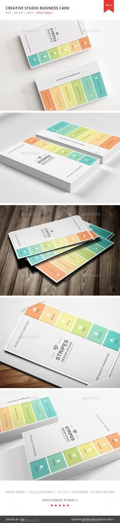 Creative Studio Business Card Template PSD. Download here: https://graphicriver.net/item/creative-studio-business-card-vol-71/17412656?ref=ksioks