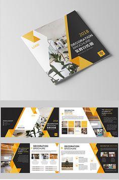 Fresh yellow atmosphere business style real estate home Brochure design Graphic Design Brochure, Brochure Design Inspiration, Brochure Layout, Branding Design, Layout Template, Brochure Template, Broucher Design, Design Ideas, Catalog Design