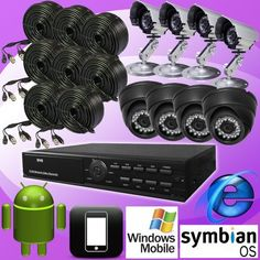 DNT 8ch 8 Channel H.264 Standalone Surveillance CCTV DVR Digital Video Recorder with 8 Color Day Night Vision Camera Security Complete System Package, Real Time CIF Record 240fps, Remote Network Monitoring, Support Internet Explorer, I-phone, Android, Wince, Symbian. CMS Software, 8ch Playback Simultaneously, USB Backup/vga Output/8 Audio Input, Support USB Mouse Control by dnt. $234.99. This is a 8 channels H.264 format DVR system which can support up to 8 BN...