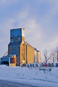 old grain elevator  looks like lariat
