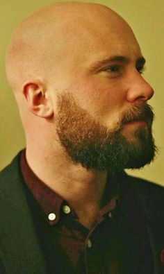 Well here are some Irresistible Bald Men with Beard. These are some Beard Styles with Shaved Head that you can try. Bald Men With Beards, Bald With Beard, Great Beards, Awesome Beards, Hairy Men, Bearded Men, Beard Styles For Men, Hair And Beard Styles, Shaved Head With Beard