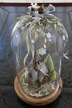 In My Own Imagination: Vintage Christmas Church Tutorial