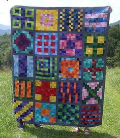 Break out your brightest scraps for a free quilt pattern that embodies all things color with this Controlled Chaos Free Quilt Pattern. A combination of traditional and modern quilt blocks, this bed quilt pattern is the perfect way to break out of you