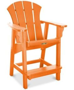 Sunrise Outdoor Counter Height Adirondack Chair, Quick Ship -