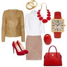 Fall work clothes - Polyvore  If I didn't wear scrubs to work....
