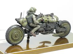 """Cheetah"" 1/20 scale. By Waki. Ma.K. original. #motorcycle #Ma_K #Maschinen_Krieger #Sci_Fi"