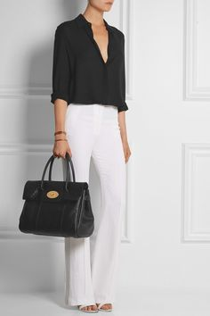 Mulberry|The Bayswater textured-leather tote|NET-A-PORTER.COM