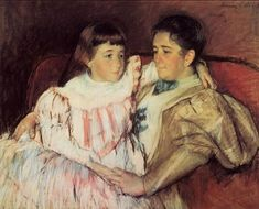 Mrs Havemeyer and her daughter Electra by Mary Cassatt (America, 1844-1926)