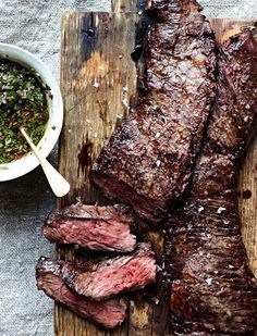grilled skirt steak with chimichurri  The Grilling Book: The Definitive Guide from Bon Appétit Four hundred and thirty-two pages, 380 recipes, 100 mouthwatering photos and, most importantly, the kind of clear, inspired advice that not only makes you want to grill but gives you the confidence to do so.