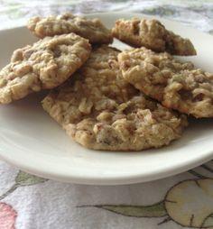 Oatmeal, coconut, pecan cookies