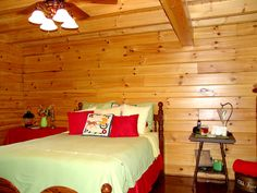 Log Home Bedroom, Bedroom Decor, Log Cabins, Beautiful Bedrooms, Log Homes, Gallery, Frame, Furniture, Design