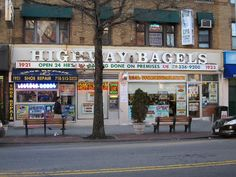 Street Bench in front of Highway Bagels - 1921 Kings Highway, Brooklyn, NY 11229 - Photo: Kevin Pacheco