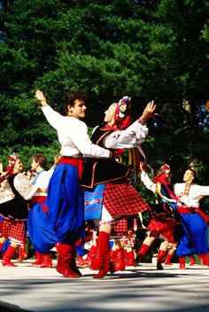 Ukrainian Dancers... I used to do that